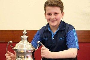 Aaron Betts is Under-13, Under-17 and Under-25 Singles champion at East Lothian
