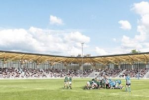 An artist's illustration of the  Edinburgh Academical Club sports ground redevelopment in  Stockbridge