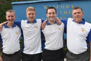 Northern bowlers, from left, Andy Reid, Gordon Wilson jun, Jamie Reid and Gordon Wilson sen have qualified for the national championships at Ayr Northfield