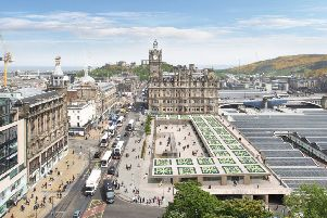 Waverley  mall're vamp'plans''Aerial From Scott Monument