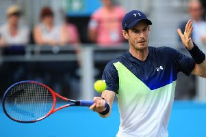 Andy Murray in action at Queen's Club this week. Picture: Marc Atkins/Getty Images