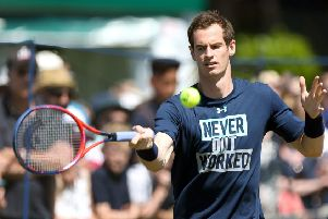 Andy Murray could make a decision on his Wimbledon participation today. Picture: PA
