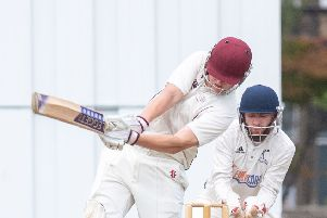 Carlton dismiss Watsonians' Rory Evans during their victory. Pic: Ian Georgeson