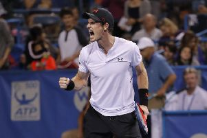 Andy Murray in action during his win over Mackenzie McDonald. The Scot will now face Kyle Edmund. Picture: AP.