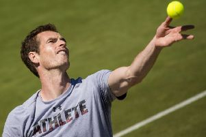 Andy Murray amused fans in a Q&A. Picture: SNS/Bill Murray