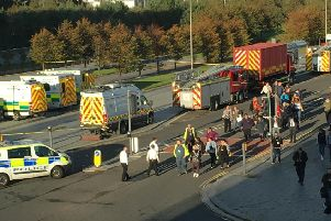Workers have been evacuated. Picture: Contributed