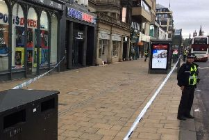 A teen has been arrested following the assault on Princes Street earlier this month.
