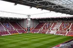 A general view of Tynecastle Park ahead of Hearts' match with Kilmarnock. Picture: SNS Group