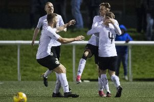 City's Liam Henderson, right, celebrates his late equaliser in the William Hill Scottish Cup against Inverness Caledonian Thistle