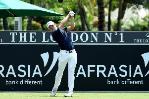 Grant Forrest off on the 10th hole during the final round of the AfrAsia Bank Mauritius Open. Picture: Warren Little/Getty Images