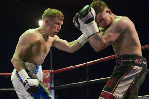 Stephen Tiffney, left, will face David Oliver Joyce in Manchester in March