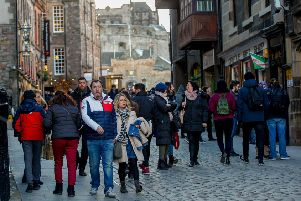 Tourists flock to Edinburgh. Picture: Scott Louden