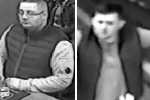 Police wish to speak with the men pictured.