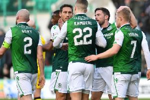 Hibs moved into the quarter-finals of the Scottish Cup. Pic: SNS