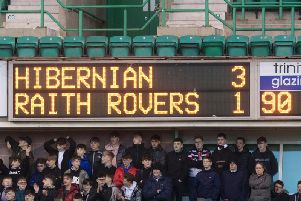 Hibs prevailed over Rovers at Easter Road. Pic: SNS