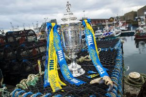 Hearts and Hibs are hoping to get their hands on the William Hill Scottish Cup. Pic: SNS