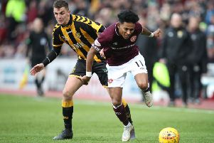 Demetri Mitchell picked up his injury against Auchinleck Talbot. Pic: SNS