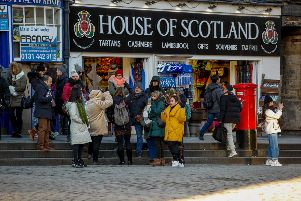 Tourists on the Royal Mile, Edinburgh
