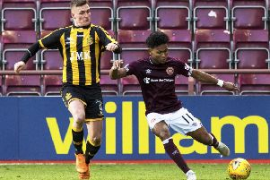 Demetri Mitchell in action for Hearts against Auchinleck Talbot. Picture: SNS Group