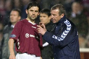 Paul Hartley with former Hearts boss Graham Rix. Picture: SNS