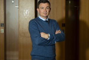 Paul Heckingbottom is unveiled as the new head coach of Hibernian. Picture: SNS/Ross MacDonald