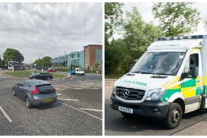 A cyclist was taken to hospital after being hit by a car this morning. Pic: Google Maps