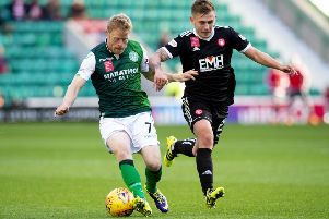 Hibs thumped Accies 6-0 the last time they visited Easter Road. Picture: SNS
