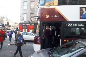 Edinburgh bus driver slapped by pedestrian after hitting him with vehicle in Leith