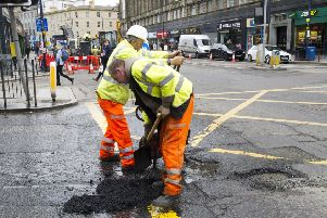 Potholes are being reported every 20 minutes in the Capital. Picture: TSPL