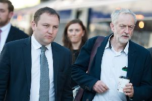 Labour leader Jeremy Corbyn with MP Ian Murray. Picture: John Devlin