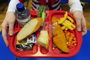 An image iof a school meal in  Uphall Primary School, West Lothian. Pic: Ian Rutherford
