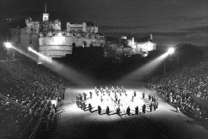 Tattoo rehearsals'Edinburgh Festival 1963'Edinburgh Military Tattoo