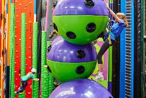Kids love the exciting and colourful climbing walls at Ratho