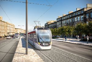 first look at artists impresions of how the trams will look going down Leith