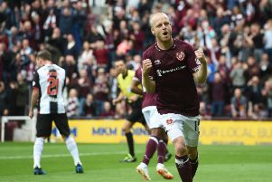 Steven Naismith celebrates scoring in the 4-1 win over St Mirren back in September. Picture: SNS