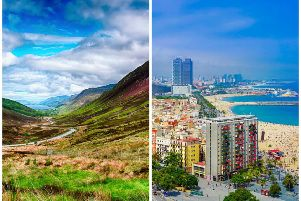 Scotland could be hotter than Barcelona (right). Pictures: Pixabay