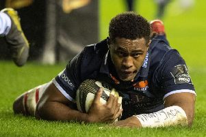 Viliame Mata has signed a new contract with Edinburgh. Pic: SNS