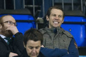 Jonathan Spector watched from the stand as Hibs beat St Johnstone  in Perth