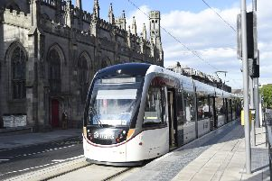 An Edinburgh Tram at York Place. Picture: TSPL