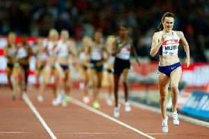 Laura Muir hopes to leave rivals in her wake in Glasgow. Picture: Christopher Lee/Getty Images
