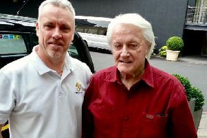 Albert with Hollywood actor Robert Vaughn