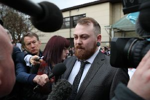 Mark Meechan speaks to the media outside Airdrie Sheriff Court. Picture: Andrew Milligan/PA Wire