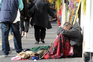 Homeless people in Edinburgh face a gruelling 18-month wait due to a shortage of social housing. Picture: Lisa Ferguson