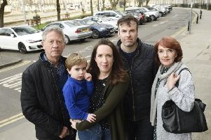 Matt Acton and partner Debbie Baird live at Atholl Place and are concerned that the charges will have an impact on Debbie's parents visiting on Sundays. Picture: TSPL