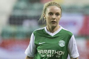 Rachael Small scored twice for Hibernian