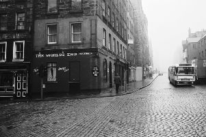 Exterior of The World's End pub at the junction of St Mary's Street and the High Street Edinburgh, the last place where Christine Eadie and Helen Scott were seen before they were murdered in October 1977.