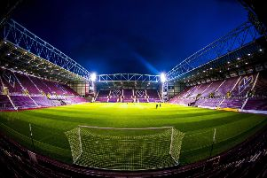 A general view of Tynecastle before the match. Picture: SNS Group