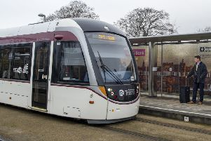 The trams to Newhaven project's cost has increased as the timescale has slipped. Picture Ian Rutherford