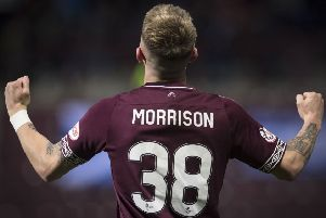 Callumn Morrison doesn't feel he's a first-team regular at Hearts yet. Pic: SNS
