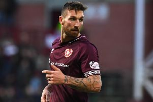 David Vanecek did not feature in Hearts' 2-1 midweek win over Partick Thistle. Pic: SNS
